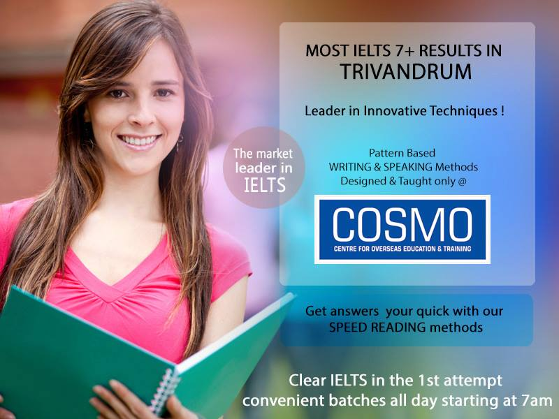 COSMO Centre - Best IELTS Training Centre in Trivandrum